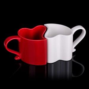 Zamilované hrnečky - červený a bílý