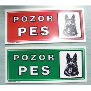 Tabulka - Pozor pes