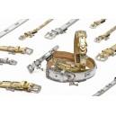 Luxusní obojek zlatý s přeskou 57x2,5