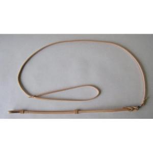 Vodítko kožené, předváděcí 120x0,5cm
