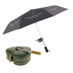 Deštník pro kuřáky s popelníkem