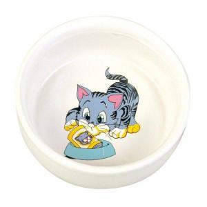 Keramická miska, malovaná, motiv kočka 300ml/11cm