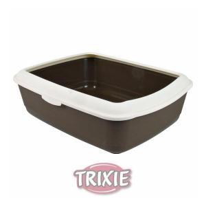 WC s okrajem 37x15x47cm (hnědo/krémová)