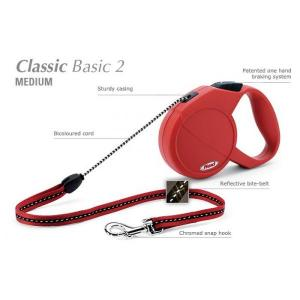 Flexi CLASSIC Basic 2 Medium  5 m šňůra - DOPRODEJ