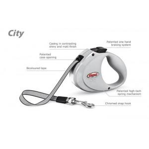 Flexi CITY pásek 2 m, do 35 kg světle šedá