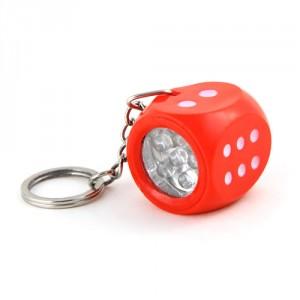 LED klíčenka - kostka