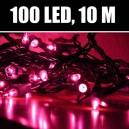 Vánoční LED osvětlení na stromeček (růžové)